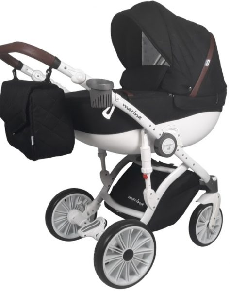 """Wózek dziecięcy """"marina"""" pikowana 1w1"""
